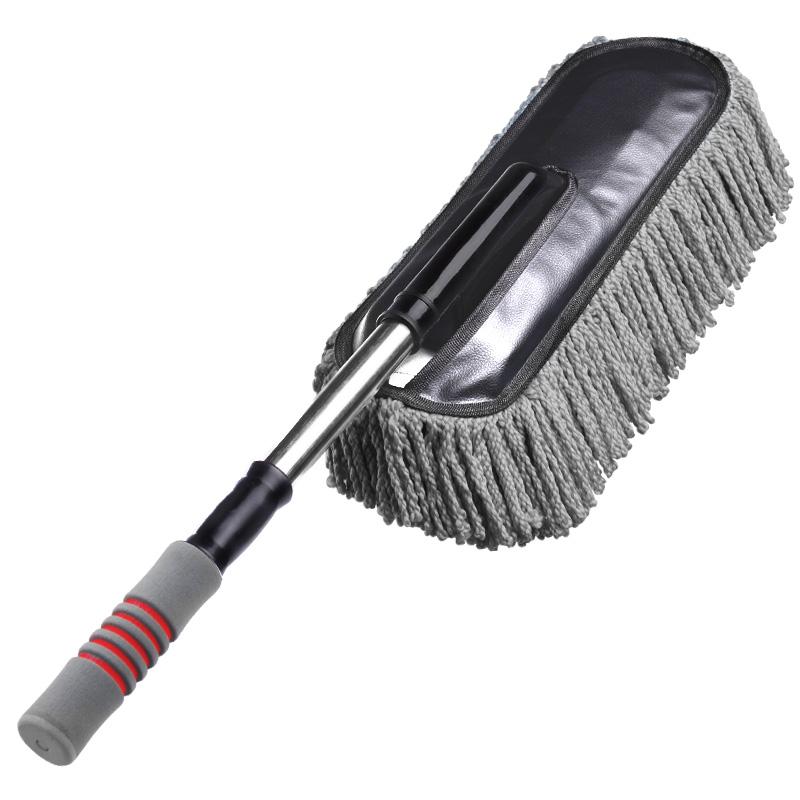 可伸缩 干湿两用 汽车清洁除尘掸子 灰色